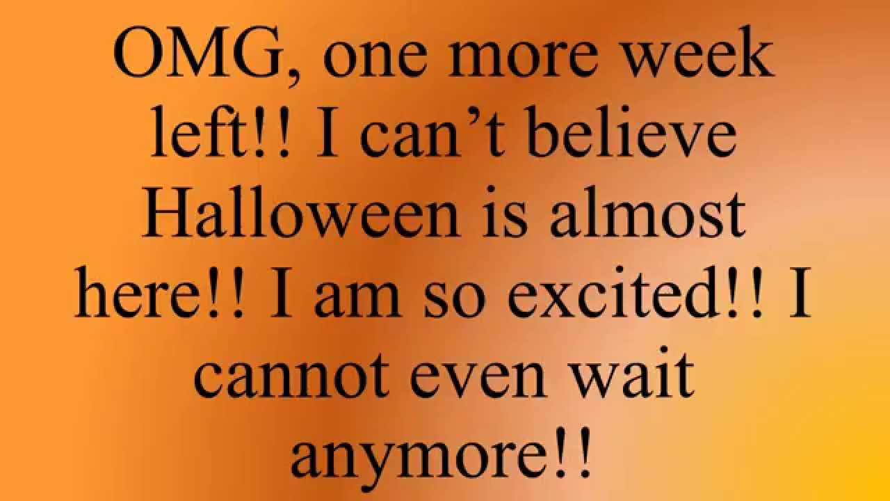 7 days left until halloween 2015 - youtube