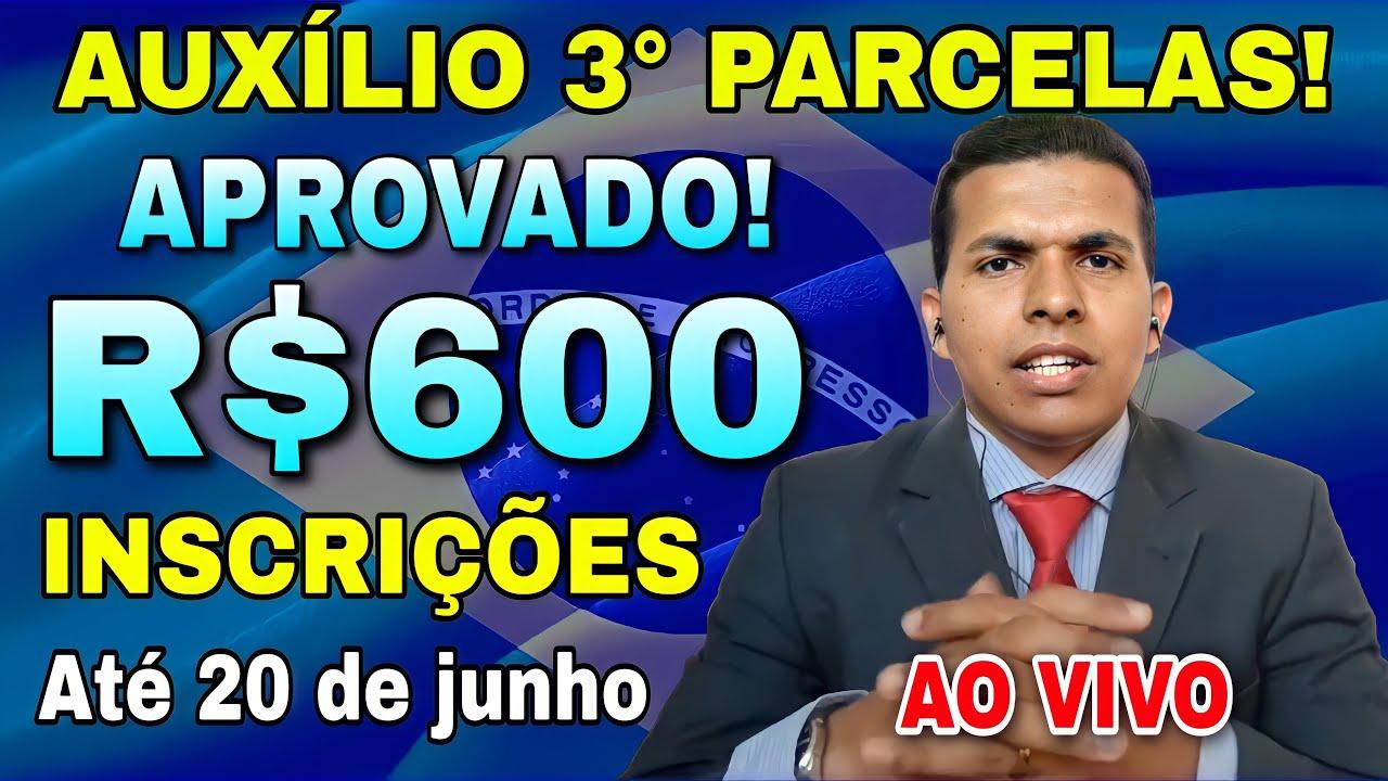 """Download AO VIVO"""" Oficial Notícia Exclusiva! Foi Aprovado Mais 3 Meses de R$600 Reais Auxílio Emergencial..."""