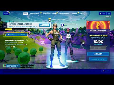 LIVE FORTNITE FR/PARTIES PERSOS TRYHARD/#PP DUO/TRIO FIGHT SCRIM + GAGNE TON PASS OU UN SKIN !!!
