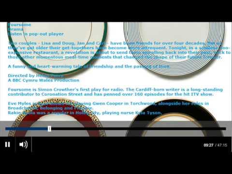 BBC Radio 4 -  Drama, Foursome - Eve Myles