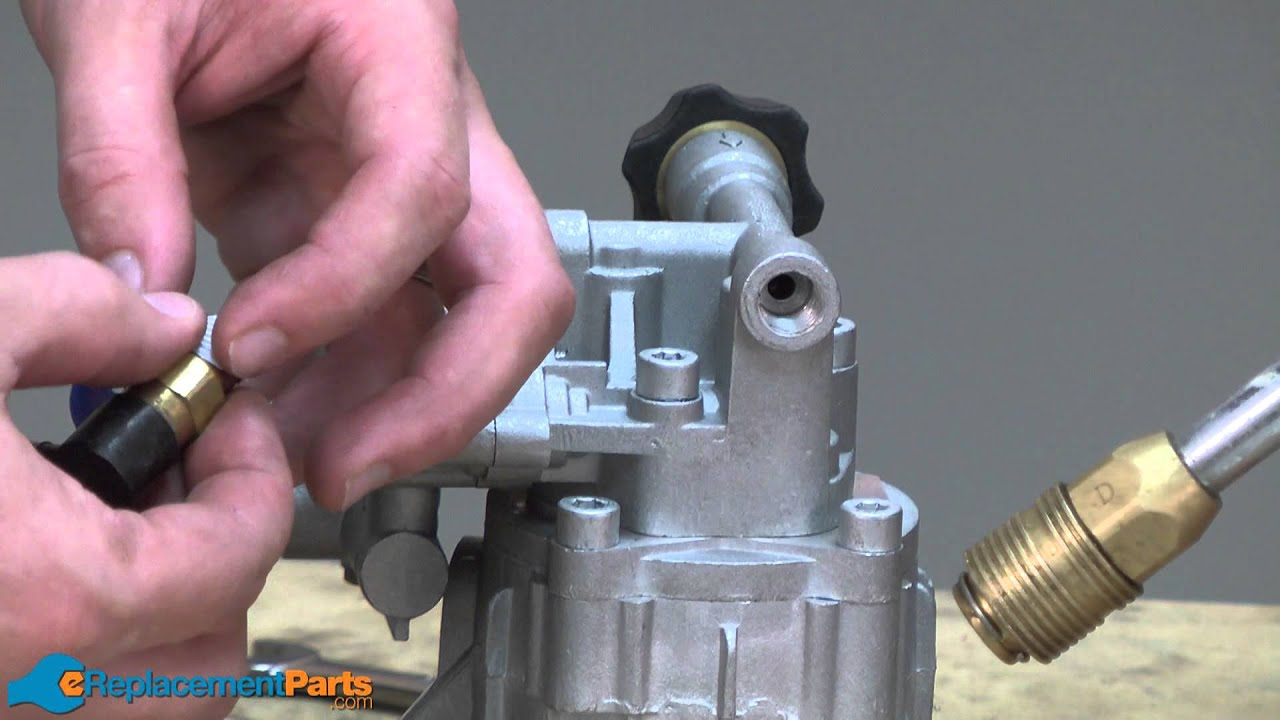 replace  pump   pressure washer  quick fix youtube