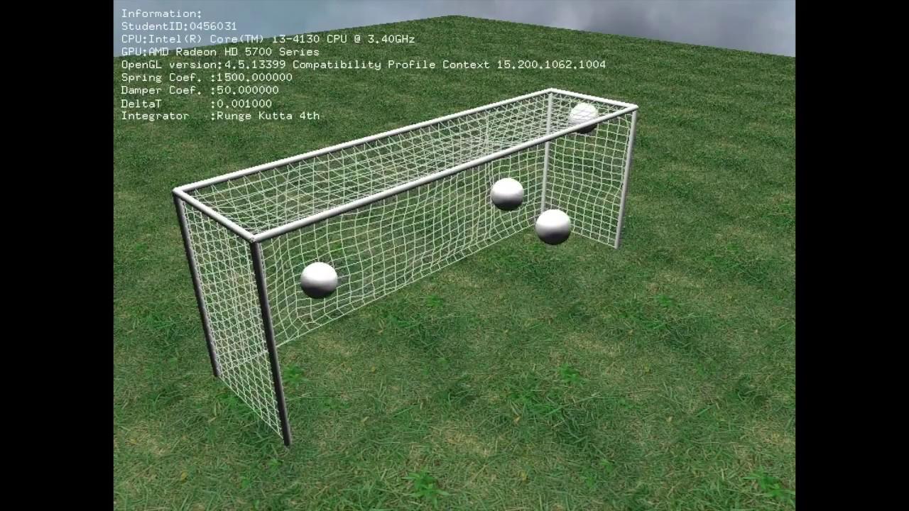 Soft Body Simulation - Euler Method & RK4