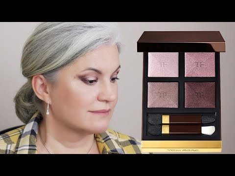 Tom Ford Virgin Orchid Eyeshadow Quad How To Day To Evening Makeup Look #tfbeauty