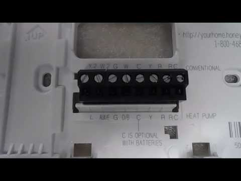 Honeywell Thermostat Installation and Wiring