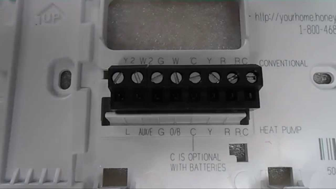 honeywell thermostat installation and wiring youtube honeywell pro 3000 home depot at Honeywell Thermostat Pro 3000 Wiring Diagram