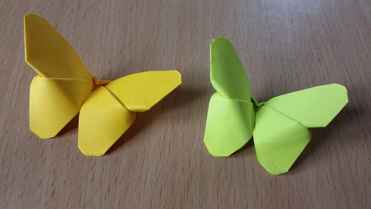 Origami butterflys with post it notes youtube origami butterflys with post it notes jeuxipadfo Images