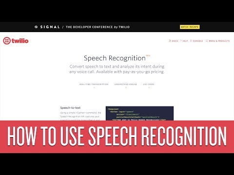 How to Use Twilio Speech Recognition
