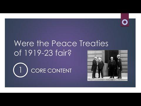 Peace Treaties - Motives and Aims