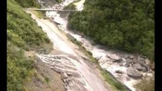100yr flood Haast South Westland NZ  Aerial footage