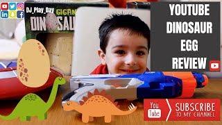 Dinosaur for kids egg review (fun video)