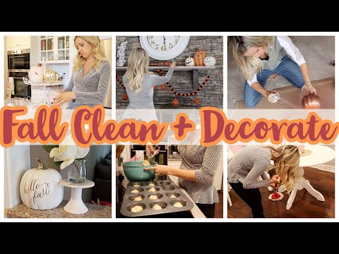 *NEW*FALL CLEAN AND DECORATE WITH ME // CLEAN WITH ME 2019 + DOLLAR TREE DIY // CLEANING MOTIVATION