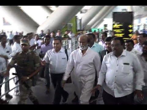 Rajinikanth Returns back from Himalayas,avoids questions on Politics| nba 24x7