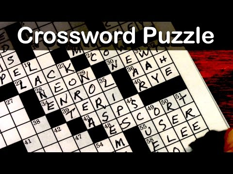 Crossword Puzzle Start to Finish