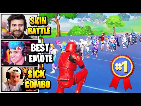 Streamers Host BIGGEST Skin & Emote Contest   Fortnite Daily Funny Moments Ep.490