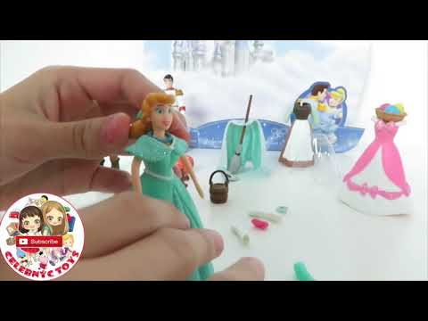 7 POLLY POCKET Disney Princess Fashion Sets | Cinderella Ariel Belle Aurora Jasmine Tiana Snow White