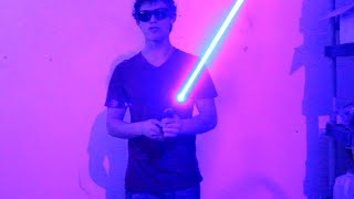 Real Burning HOMEMADE LIGHTSABER!!! styropyro's version