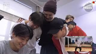 【繁中字幕】BTS 防彈少年團 #BANGTANBOMB - 'Skool Luv Affair' stage practice behind the scenes(備註看簡介)