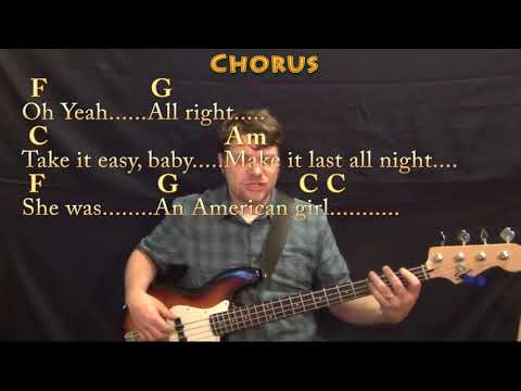 American Girl (Tom Petty) Bass Guitar Cover Lesson In C With Chords/Lyrics