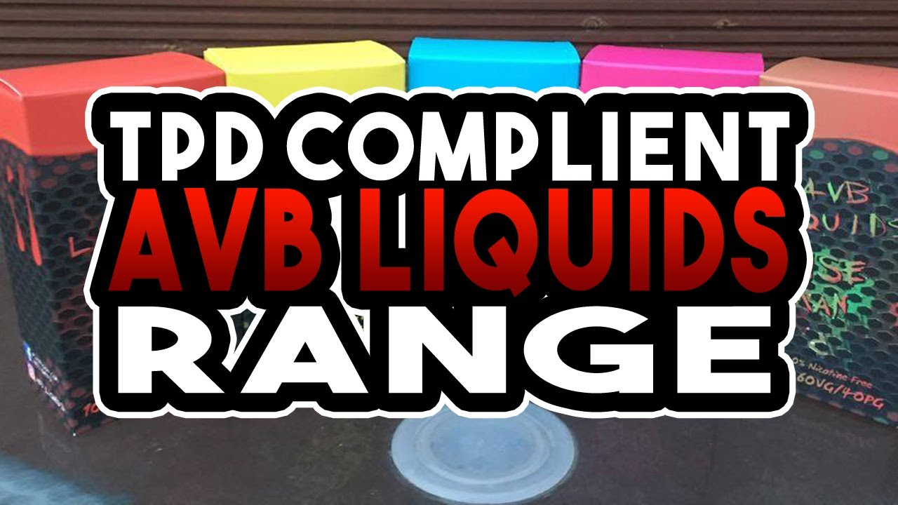 AVB Liquids Ejuice - TPD Compliant E juice Range - 100ml/120ml Range - Nic  Shot How To Guide!