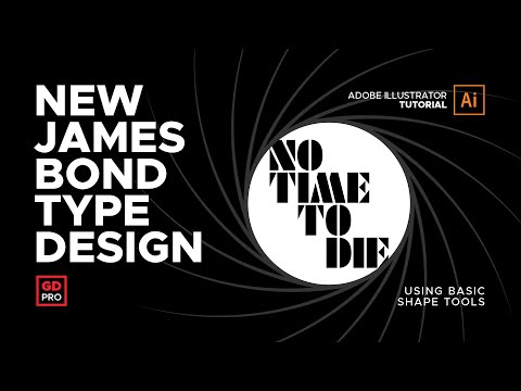 007 No Time To Die Typography • Adobe Illustrator Tutorial thumbnail