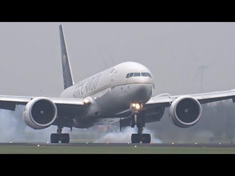 Heavy Landings At Schiphol Airport A380, B747, B777, A330, B787