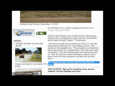 Aberdeen South Dakoa Beef Plant Nightmare Employees Contractors not paid now files bankrupcy