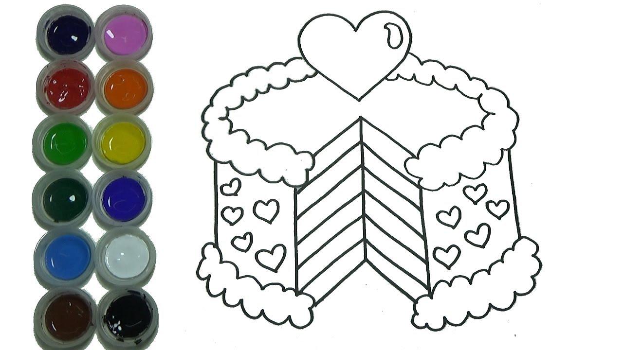 Dibuja y Colorea Pastel De Cumpleaños de Arco Iris - Dibujos Para ...