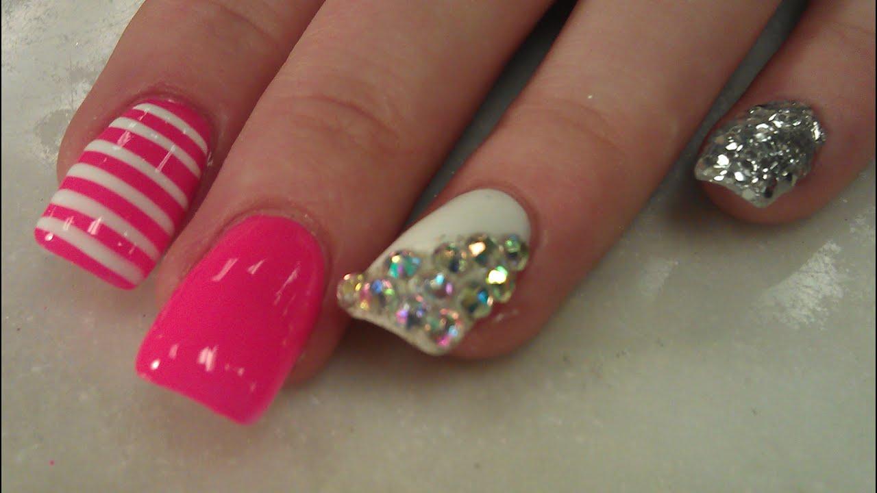glitter dip nail design