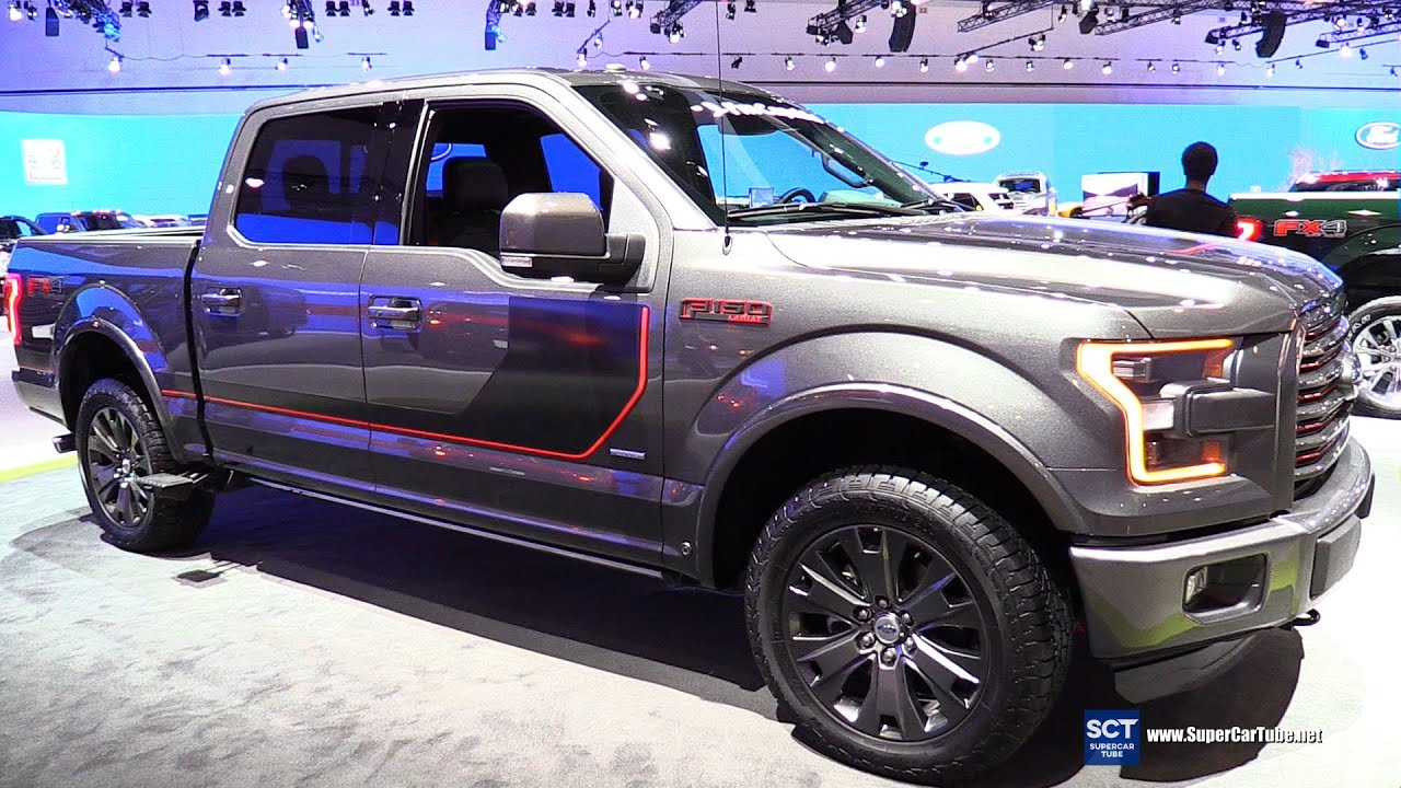 2016 ford f 150 4x4 super crew exterior and interior walkaround 2015 la auto show youtube. Black Bedroom Furniture Sets. Home Design Ideas
