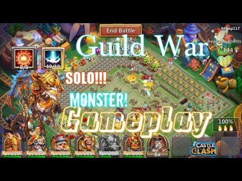 Guild War Skeletica SOLO Gameplay INSANE! Castle Clash