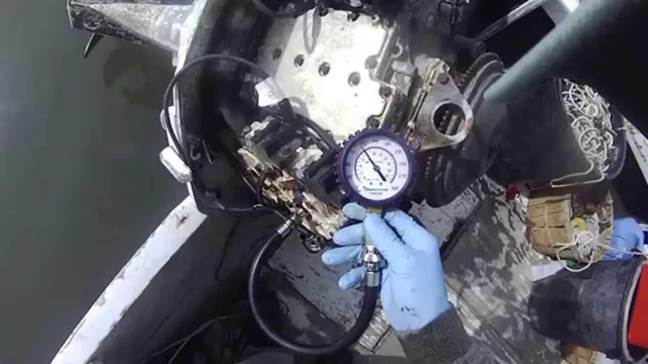 Johnson outboard 90hp V4 compression test