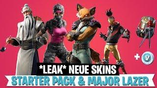 LEAK New Skins - Starter Pack! Événement de concert de Lazer majeur (fr) Fortnite Bataille Royale