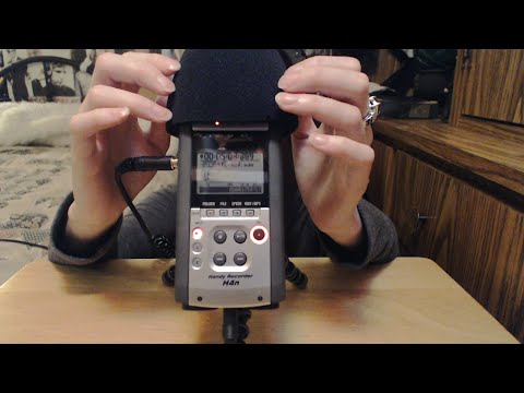 [ASMR] Touching Zoom H4N Mic with Wind Guard + Hand Movements (No Talking)