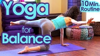 Video Yoga For Balance & Strength - Core, Abs & Back Workout, 10 Minute At Home Workout download MP3, 3GP, MP4, WEBM, AVI, FLV Maret 2018