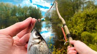 УДОЧКА СВОИМИ РУКАМИ как сделать рыбалка с самодельной удочкой
