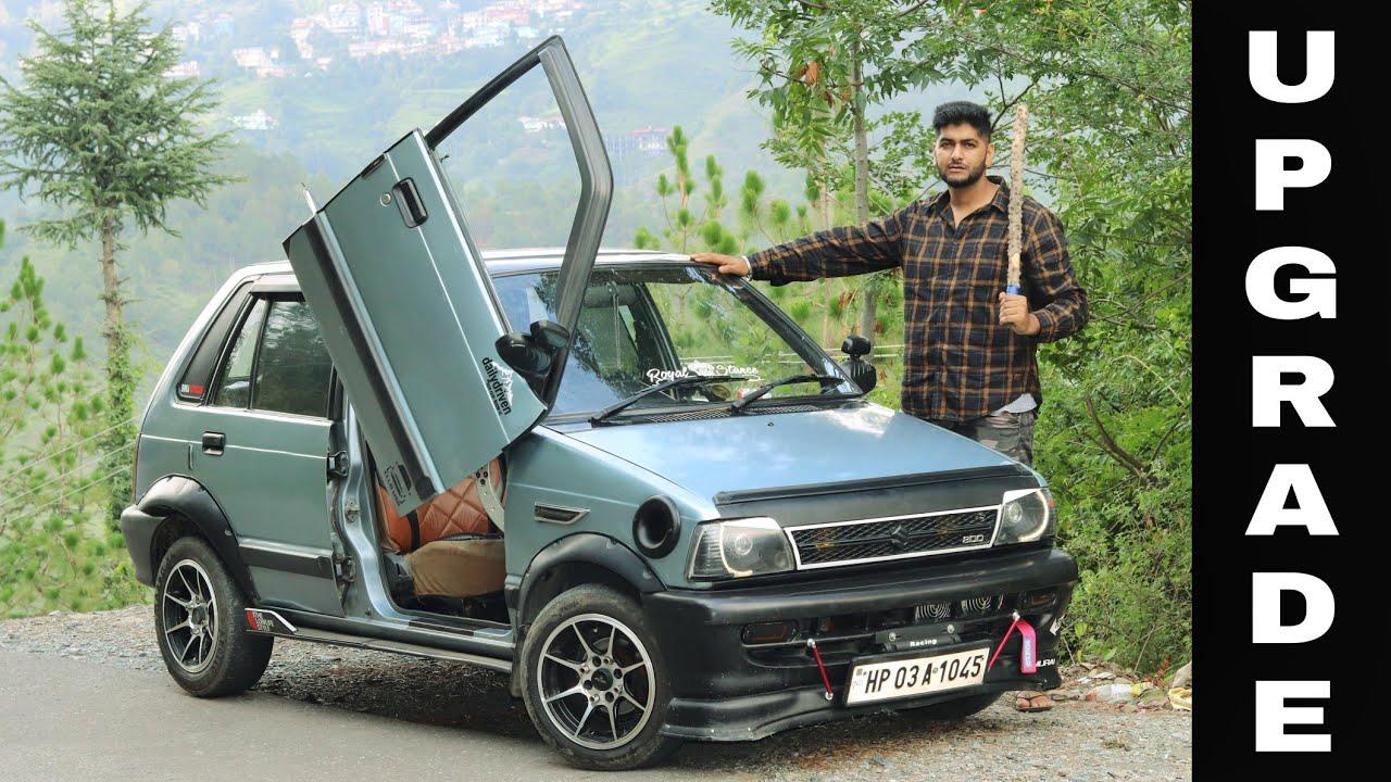 Modified Maruti 800   Sunroof   Lambo doors   DRL Projector   Sparco   Loud Exhaust   Engineer Singh
