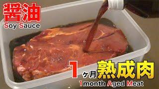 醤油に漬け込んで1ヶ月熟成肉作ってみた Insane Soy Saขce Dry Age Experiment!!