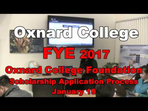1-19 OC FYE Foundation Scholarship Application
