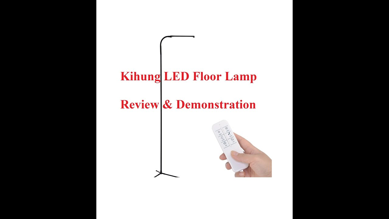 Kihung Dimmable LED Floor Lamp With Remote Control   Demo U0026 Review
