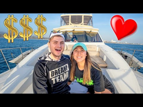 $10,000 YACHT DATE WITH MY BOYFRIEND!!