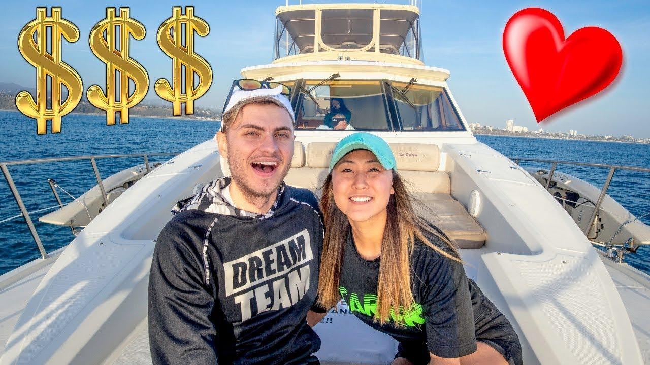 $10,000 YACHT DATE WITH MY BOYFRIEND!!