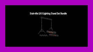 Démo Stairville LB 3 Lightning Stand Set bundle