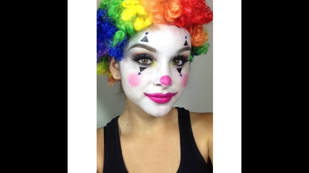clown makeup tutorial halloween youtube