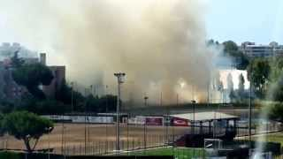 Latina, incendio in viale Nervi