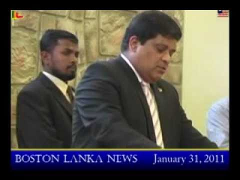 Confrontation of Shavendra Silva & Pro-LTTE Tamil Diaspora in Boston USA