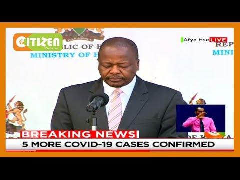 Kenya records 5 more coronavirus cases,total number rises to 184