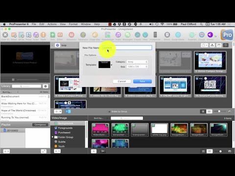 ProPresenter 6 Tutorial: Your first presentation