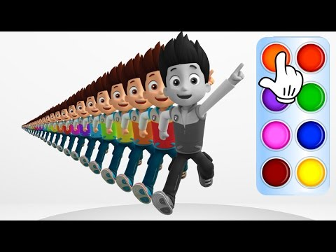 Learn Colors with Paw Patrol Ryder Learning Flashy Color Animation for Baby Toddlers, Kids Part 6