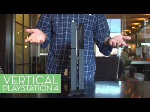 Using the PS4 Vertically