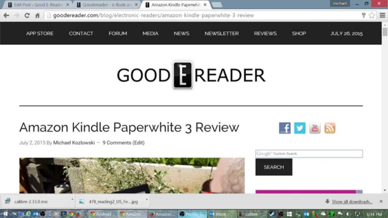 How to Load e-Books on the Amazon Kindle Paperwhite 3